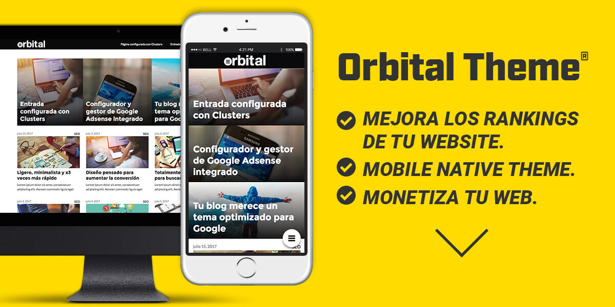 Orbital Theme, La mejor plantilla wordpress SEO optimizada del 2018