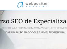 Curso SEO Técnico Profesional, Webpositer Academy