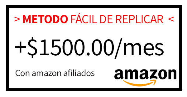 Método para ganar dinero con Amazon afiliados