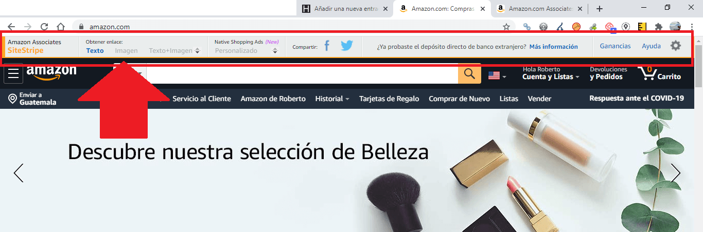 Toolbar Amazon Afiliados